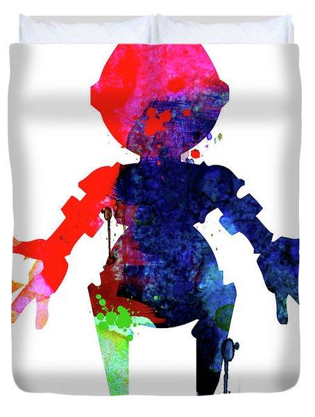 Star Droid Watercolor 4 Duvet Cover