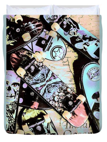 Star Skaters Duvet Cover