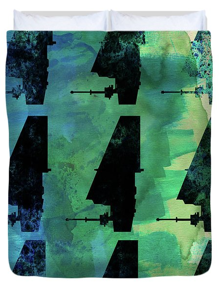 Star Warrior Collage Duvet Cover
