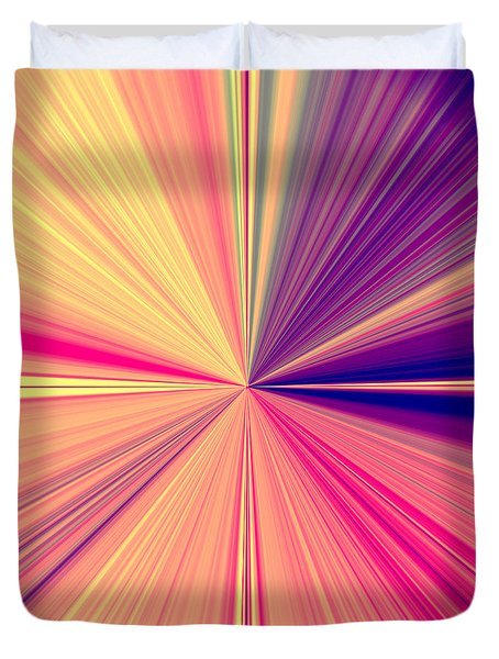 Starburst Light Beams In Abstract Design - Plb457 Duvet Cover