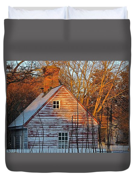 Duvet Cover featuring the photograph Stark... by Don Moore