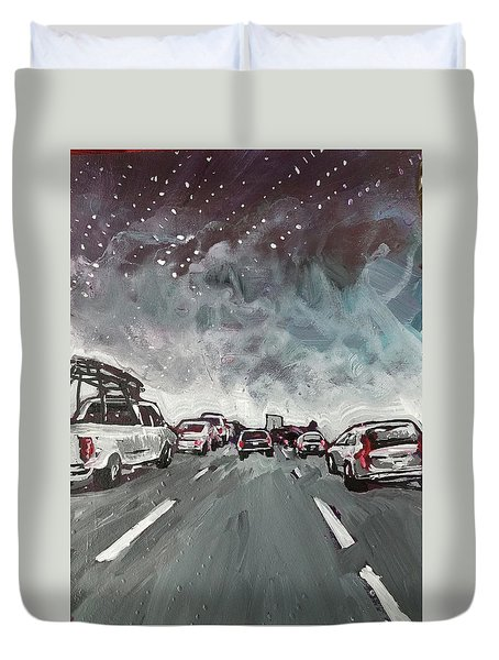 Starry Night Traffic Duvet Cover