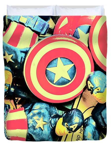 Stars Of Freedom Fighters Duvet Cover