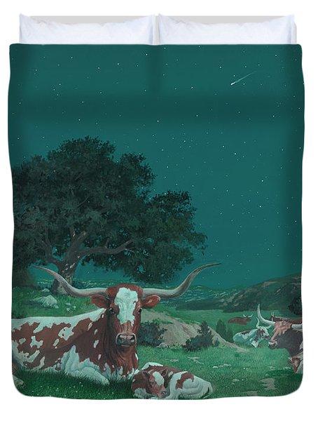 Stars Over Texas Duvet Cover