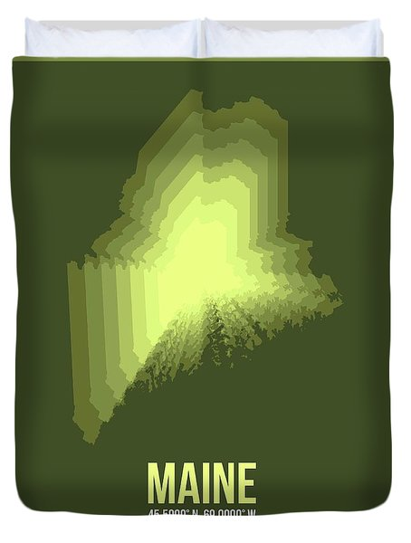 State Map Of Maine  Duvet Cover