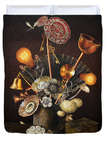 Steampunk Bouquet Duvet Cover
