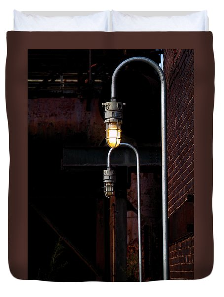 Steel City Lights Duvet Cover