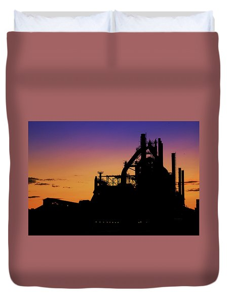 Steel City Sunrise Duvet Cover
