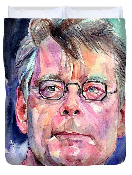 Stephen King Portrait Duvet Cover