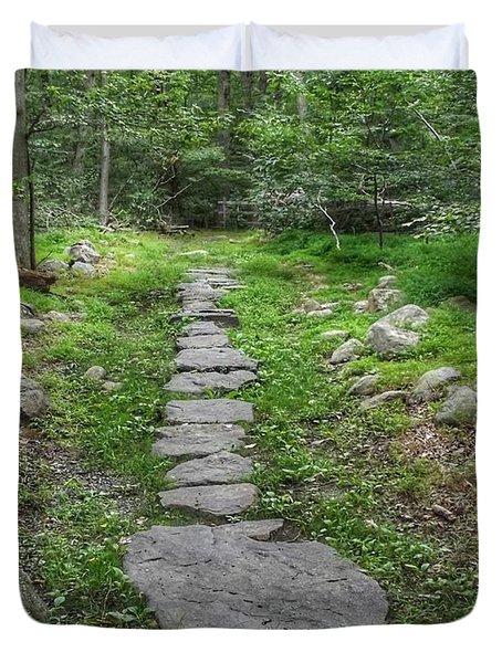 Stepping Stone Path - Kinnelon Duvet Cover