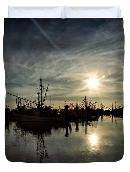 Steveston Silhouettes Duvet Cover