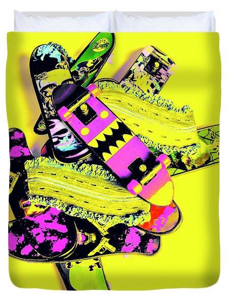 Still Life Street Skate Duvet Cover
