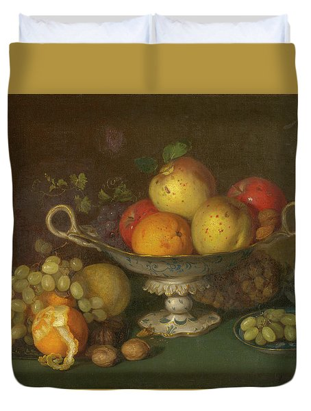 Still Life With Fruit, 1844 Duvet Cover