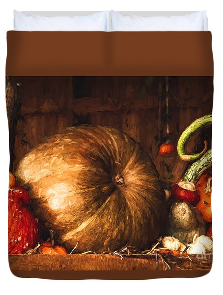 Still Life With Pumpkins Duvet Cover
