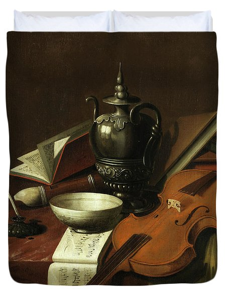 Still Life With Violin Duvet Cover