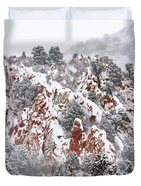 Stillness Of A Snow Covered Morning Duvet Cover