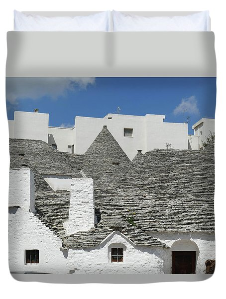 Stone Coned Rooves Of Trulli Houses Duvet Cover