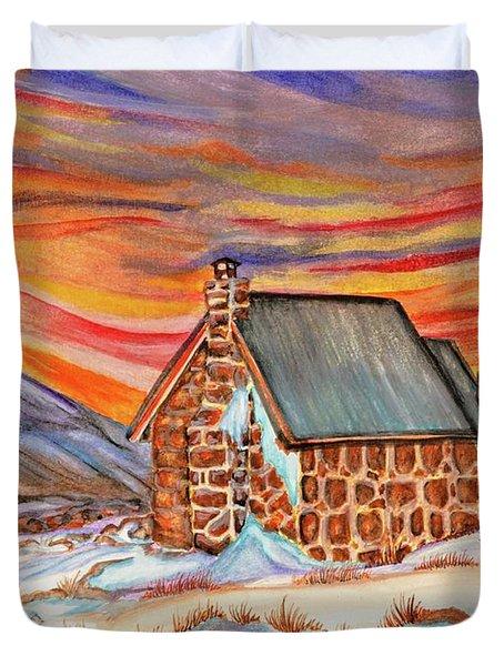 Stone Refuge Duvet Cover