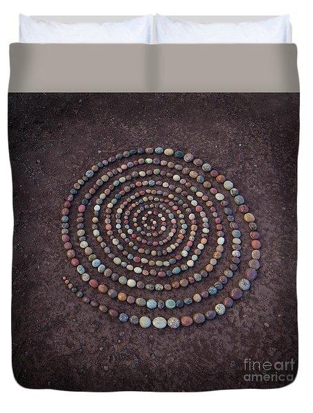 Stone Spriral Duvet Cover