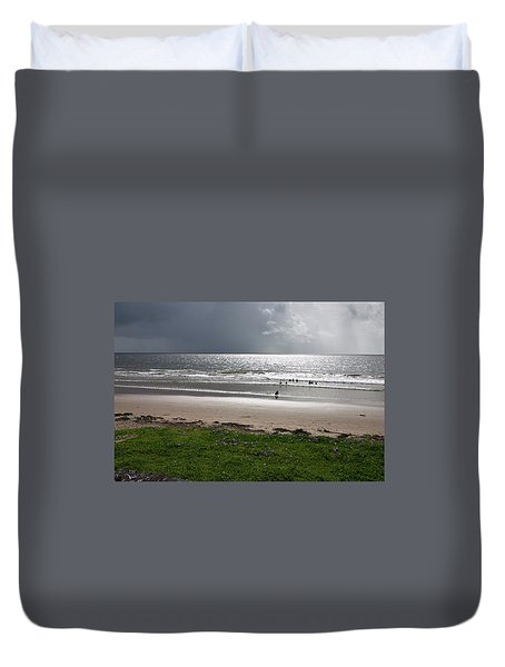 Storm Brewing Over The Sea Duvet Cover