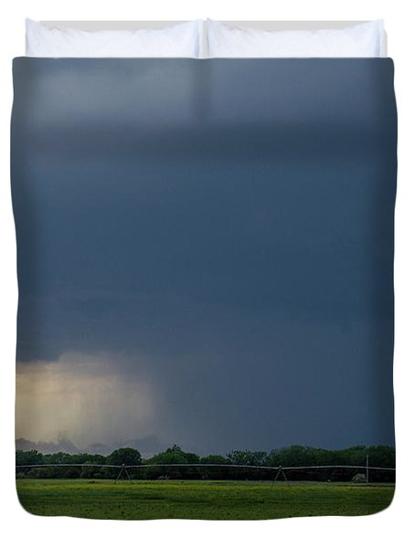 Storm Chasing West South Central Nebraska 002 Duvet Cover