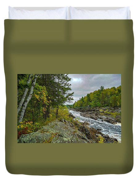 Storm Clouds At Jay Cooke Duvet Cover