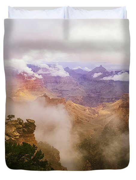 Storm In The Canyon Duvet Cover