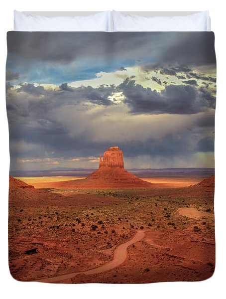 Stormy Background Duvet Cover
