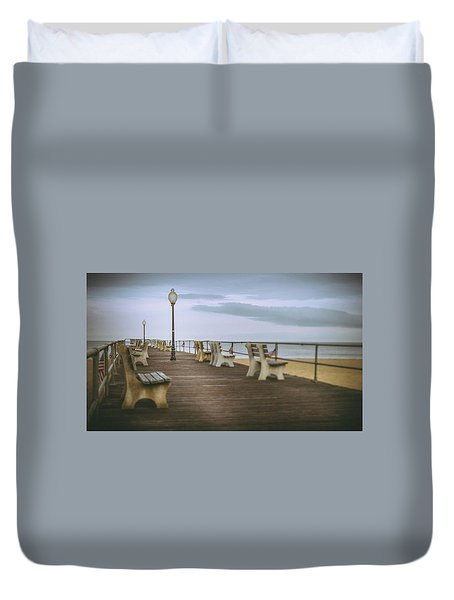 Stormy Boardwalk 2 Duvet Cover