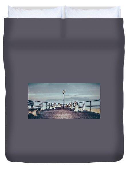 Stormy Boardwalk Duvet Cover