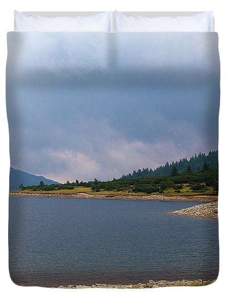 Duvet Cover featuring the photograph Stormy by Milena Ilieva