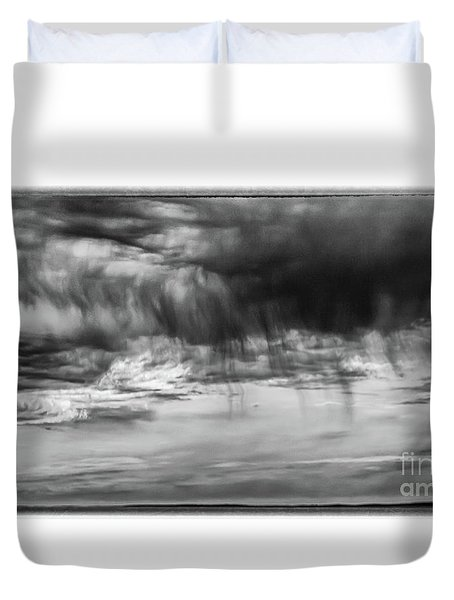 Stormy Sky In Black And White Duvet Cover