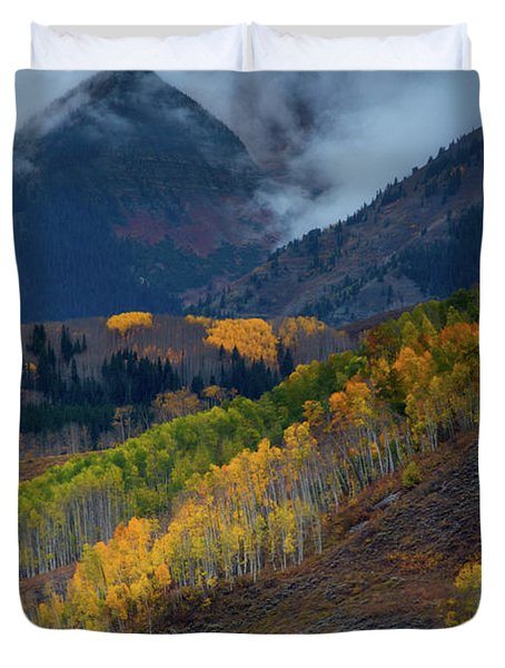 Stormy Weather Over The Elks Duvet Cover