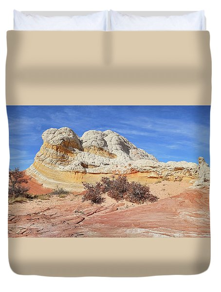 Duvet Cover featuring the photograph Strange Structures by Theo O'Connor