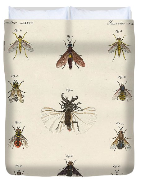 Strange Two-winged Insects Duvet Cover