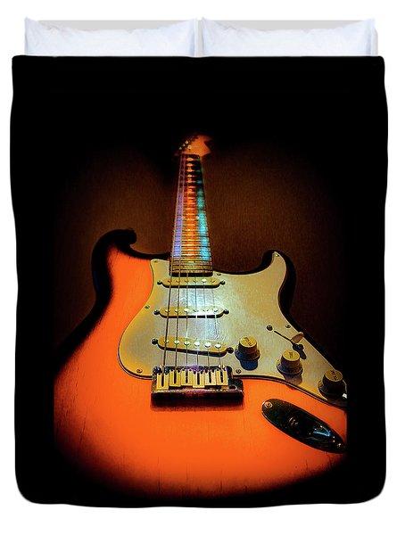 Stratocaster Triburst Glow Neck Series Duvet Cover