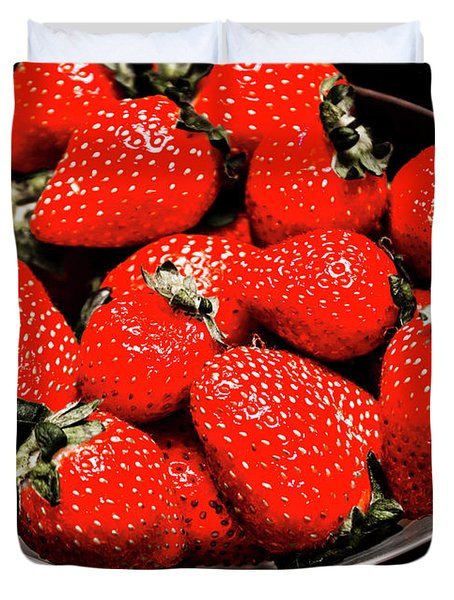 Strawberry Cocktail Duvet Cover