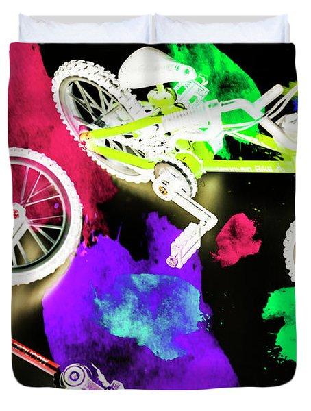 Street Bike Art Duvet Cover