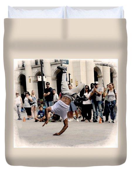 Street Dance. New York City. Duvet Cover