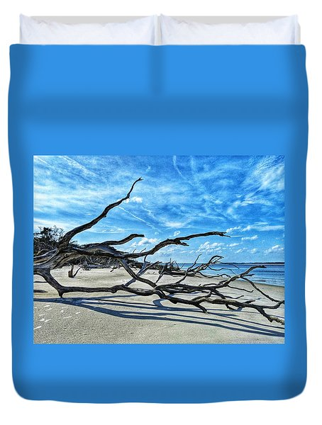 Stretch By The Sea Duvet Cover