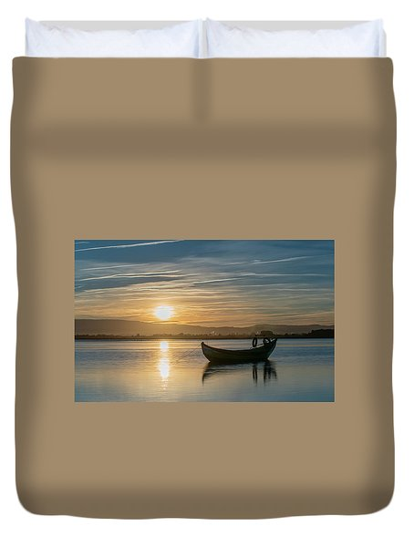 Duvet Cover featuring the photograph Strikes by Bruno Rosa