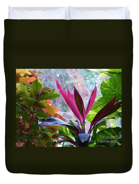 Duvet Cover featuring the photograph In The Pink by Rosanne Licciardi