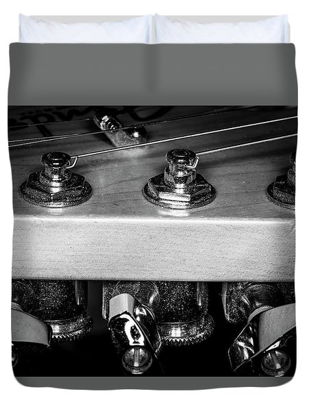Duvet Cover featuring the photograph Strings Series 11 by David Morefield