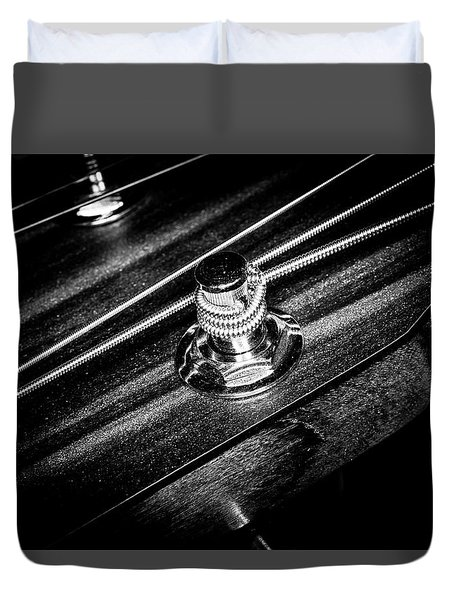 Duvet Cover featuring the photograph Strings Series 14 by David Morefield
