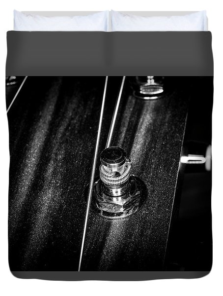 Duvet Cover featuring the photograph Strings Series 15 by David Morefield
