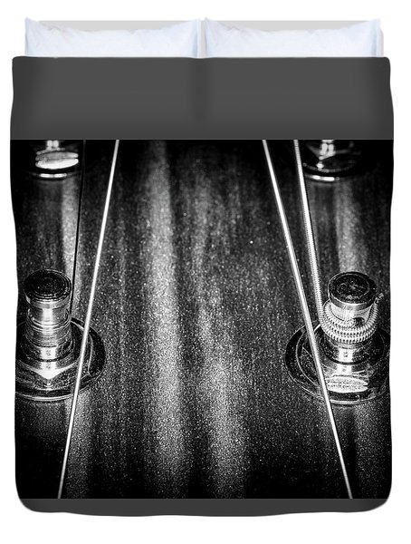 Duvet Cover featuring the photograph Strings Series 16 by David Morefield