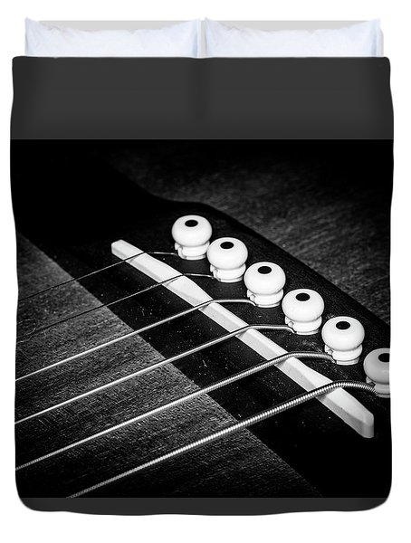 Duvet Cover featuring the photograph Strings Series 18 by David Morefield