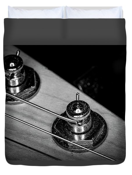 Duvet Cover featuring the photograph Strings Series 9 by David Morefield
