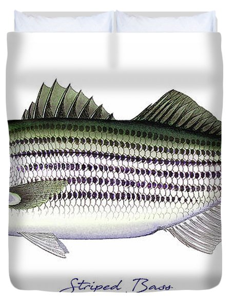 Striped Bass Duvet Cover