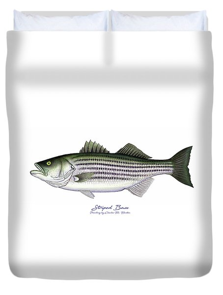 Striped Bass Duvet Cover